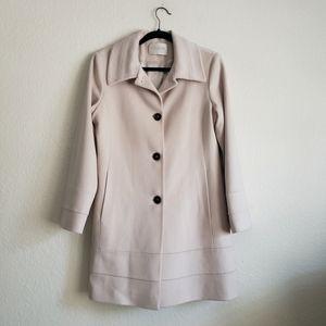 Fleurette Cream Wool Coat Sz 10 Petite